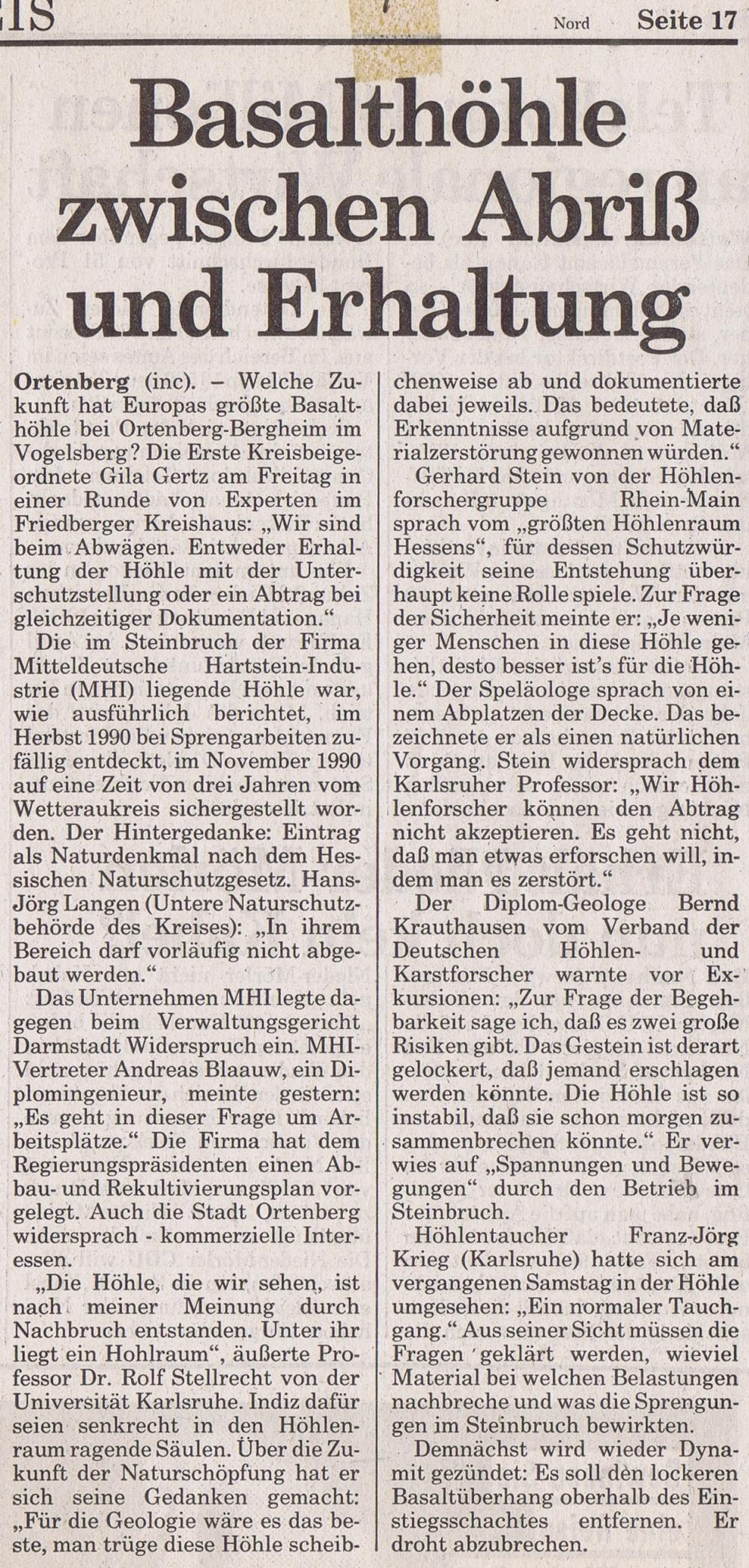 19910223_print_Frankfurter-Neue-Presse_Basalthoehle-zw-Abriss+Erhaltung